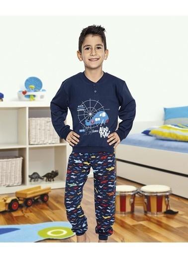 Aydoğan Erkek Çocuk İnterlok Uzun Kollu Pijama Takımı Renkli